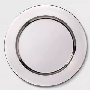 Threshold 13 Inch Silver Charger Set